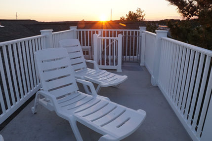 The Crow's nest provides an ideal location to watch the sun set.