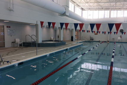 In addition to the recreational swimming pools, the pool in the Freeman features several 25-meter lap lanes.